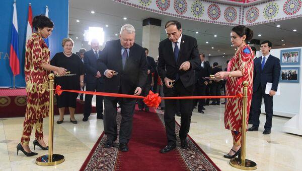 В Душанбе открылась выставка Таджикистан и Россия: по пути дружбы и созидания - Sputnik Тоҷикистон