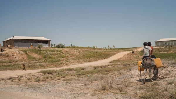 Мальчишки верхом на осле в Шахристанском районе Таджикистана, архивное фото - Sputnik Тоҷикистон