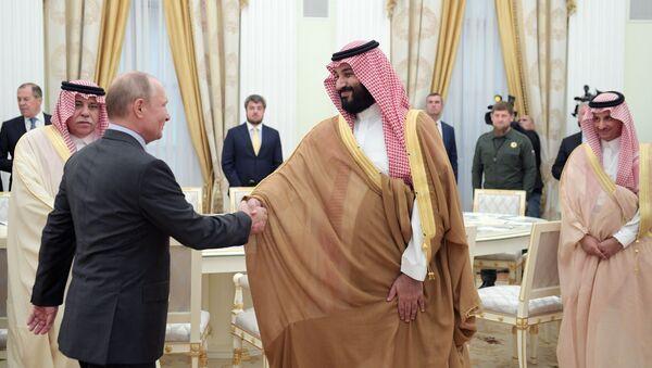 Президент РФ Владимир Путин и наследный принц Саудовской Аравии - Sputnik Таджикистан