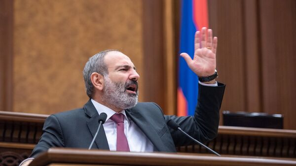 Исполняющий обязанности премьер-министра Армении Никол Пашинян, архивное фото - Sputnik Таджикистан