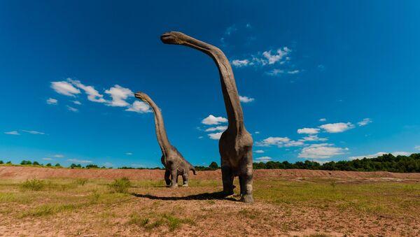 3D иллюстрация древних динозавров, архивное фото - Sputnik Таджикистан