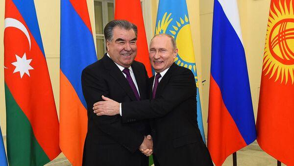 Президент России Путин и Президент Таджикистана Рахмон  - Sputnik Таджикистан