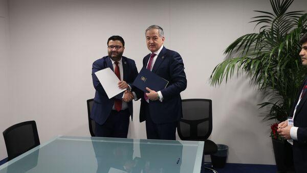 Подписание соглашения между МИД Таджикистана и Румынии  - Sputnik Тоҷикистон