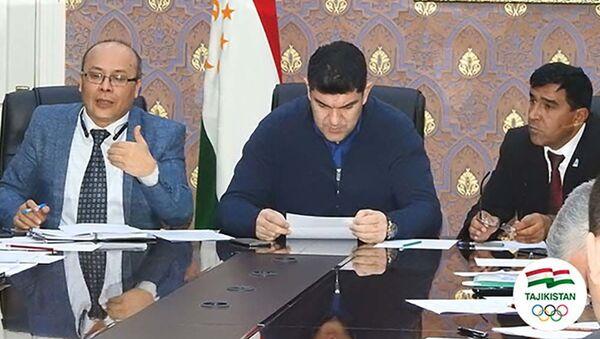 Дилшод Назаров на совещании спортивной федерации Таджикистана - Sputnik Тоҷикистон