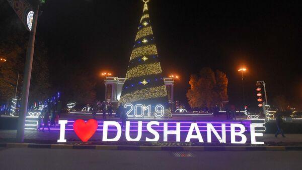 Новогодний Душанбе у театра оперы и балета - Sputnik Таджикистан