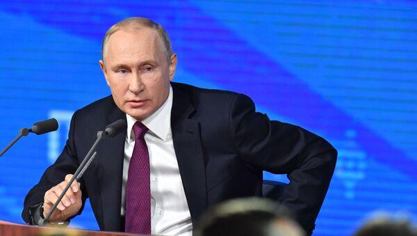 Ежегодная большая пресс-конференция президента РФ В. Путина - Sputnik Тоҷикистон