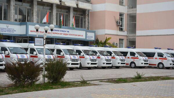 Минздрав Таджикистана при поддержке Всемирного банка приобрел 20 автомобилей скорой помощи - Sputnik Тоҷикистон