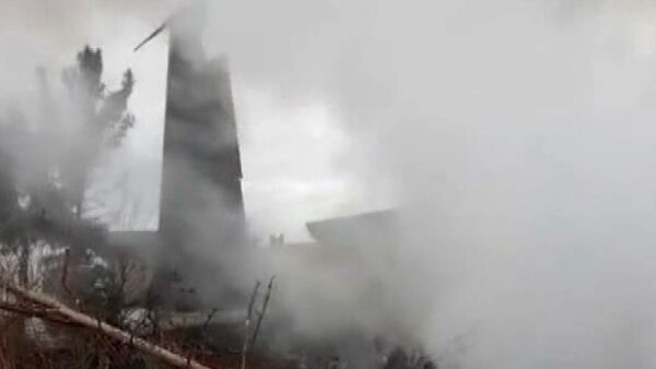Опубликовано видео с места крушения Boeing 707 в Иране - Sputnik Тоҷикистон
