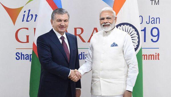 ПрезидентРеспублики Узбекистан встретился с премьер-министром Республики Индия - Sputnik Таджикистан