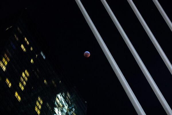 Полное лунное затмение в Нью-Йорке  - Sputnik Таджикистан