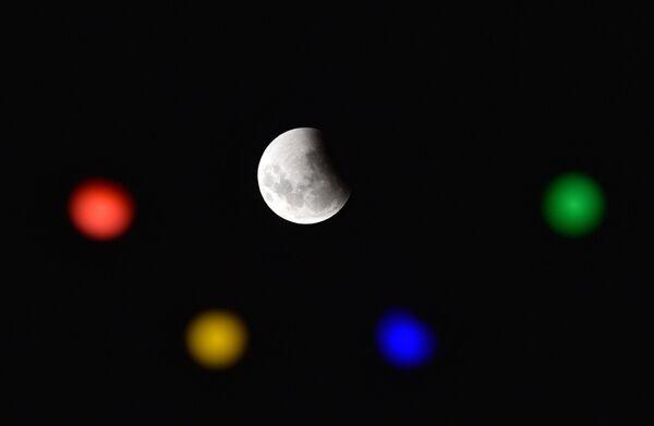 Полное лунное затмение в Уругвае  - Sputnik Таджикистан