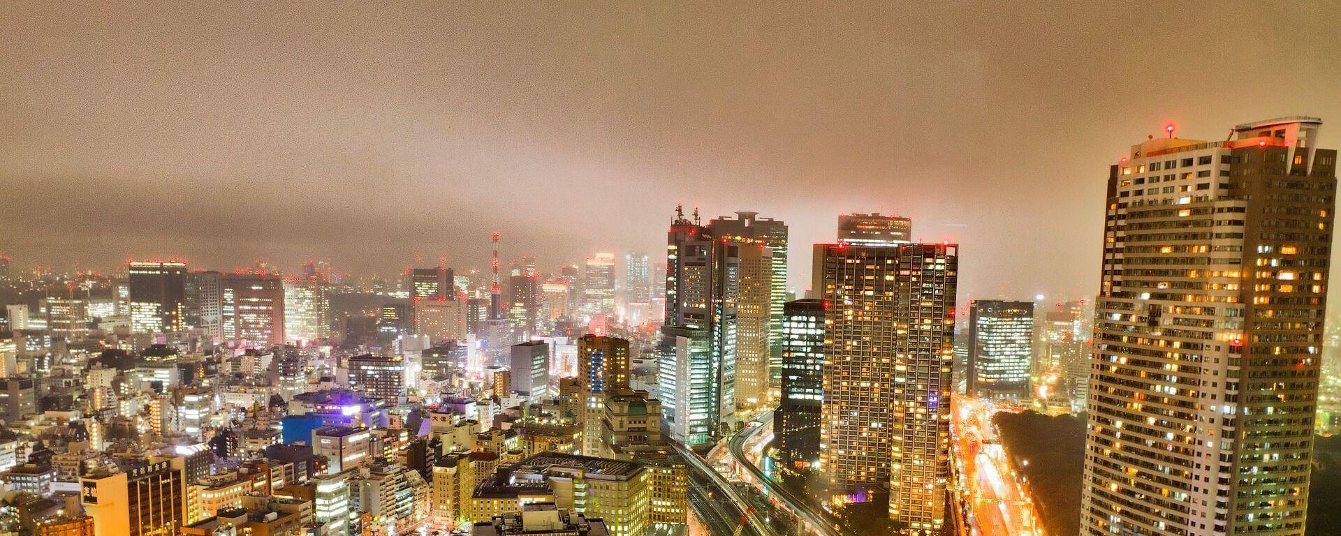 Город Токио ночью, архивное фото - Sputnik Таджикистан, 1920, 26.07.2021