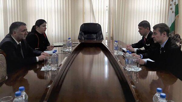 Встреча Временного поверенного с Министром транспорта Таджикистана - Sputnik Тоҷикистон