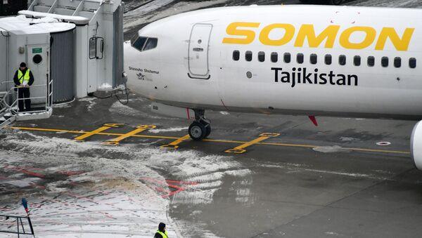 Самолет компаний Somon Air в аэропорту Домодедово - Sputnik Тоҷикистон