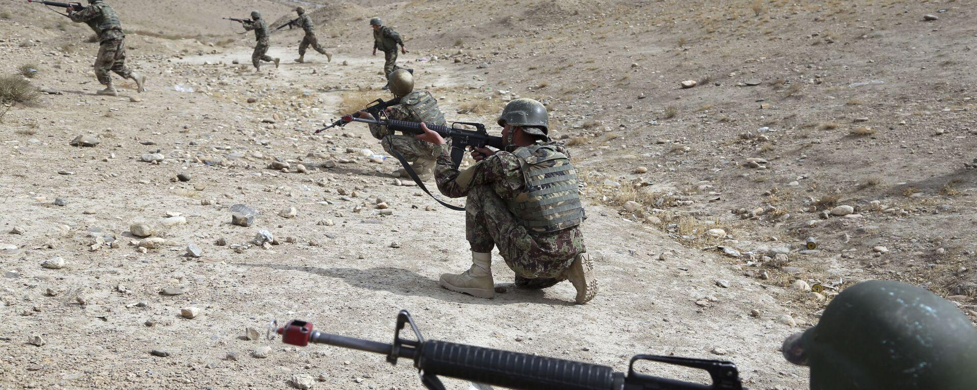 Cолдаты Афганской национальной армии, архивное фото - Sputnik Таджикистан, 1920, 13.05.2021