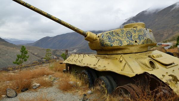 Советский танк в Панджшерском ущелье (Афганистан) - Sputnik Таджикистан