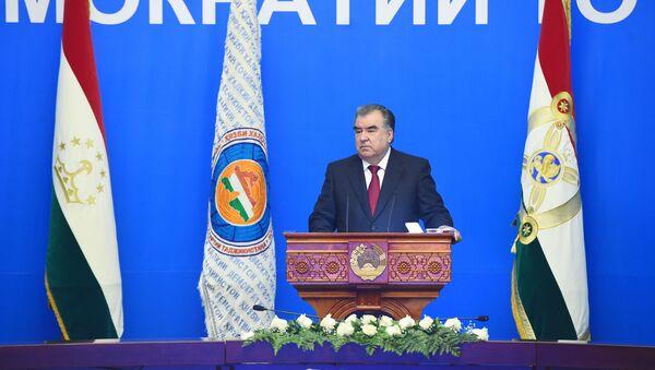 Участие президента в заседание НДПТ Народно-демократическая партия Таджикистана - Sputnik Таджикистан