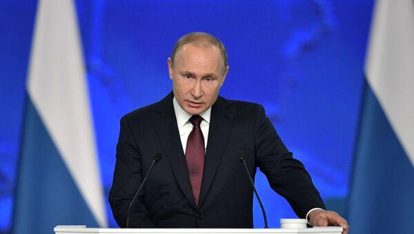 Ежегодное послание президента РФ В. Путина Федеральному Собранию - Sputnik Тоҷикистон