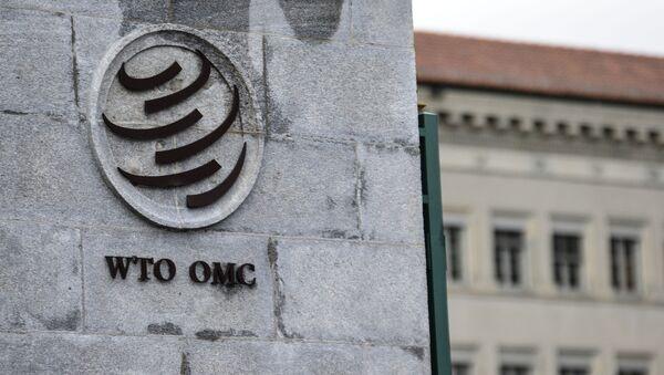Эмблема Всемирной торговой организации (ВТО), архивное фото - Sputnik Тоҷикистон