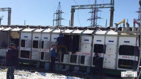 На территории электростанции в Кибрайском районе Ташкентской области произошел пожар - Sputnik Таджикистан