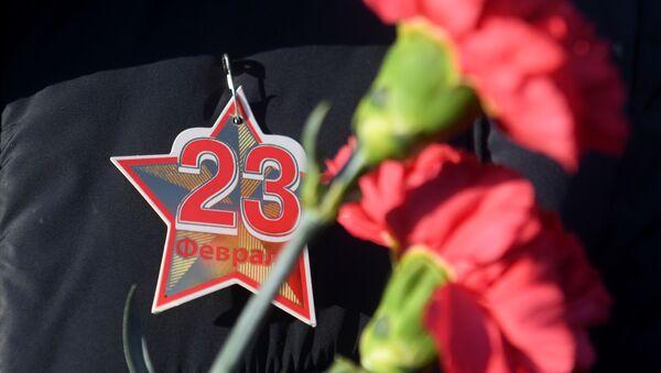 Празднование Дня защитника Отечества, архивное фото - Sputnik Тоҷикистон