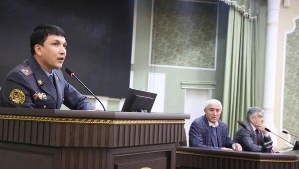 Вечер поэзии таджикских милиционеров - Sputnik Тоҷикистон