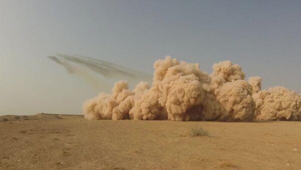 В Таджикистане артиллеристы РФ уничтожили из Града условного противника - Sputnik Таджикистан