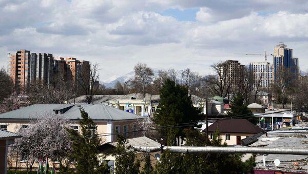 Вид на город Душанбе с моста ЖД вокзала, архивное фото - Sputnik Тоҷикистон