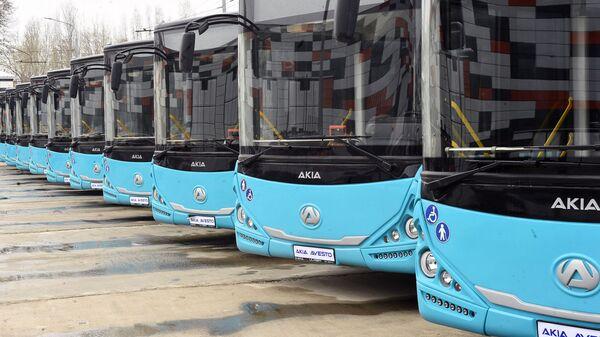 Автобусы AKIA AVESTO производимые в Таджикистане - Sputnik Таджикистан