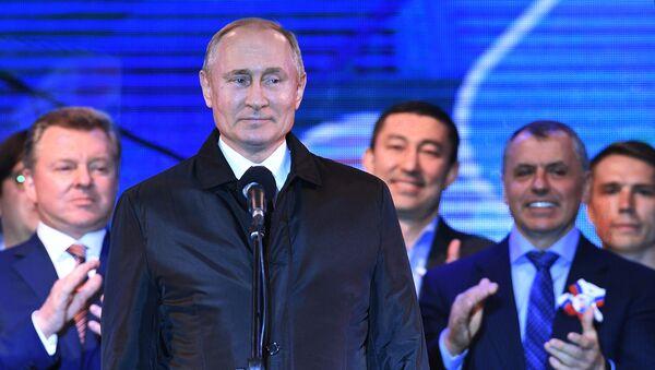 Рабочая поездка президента РФ В. Путина в Крым  - Sputnik Таджикистан