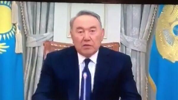 Обращение Главы государства Нурсултана Назарбаева к народу Казахстана - видео - Sputnik Тоҷикистон