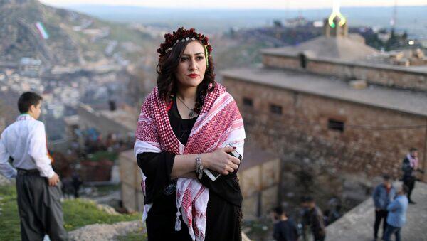 Курды во время празднования Навруза в Ираке - Sputnik Тоҷикистон