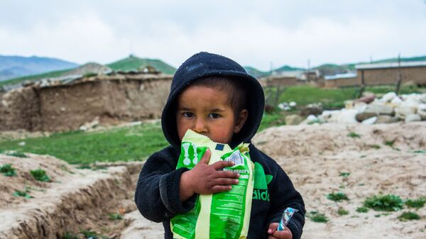 Ребенок из многодетной семьи в труднодоступном кишлаке - Sputnik Таджикистан