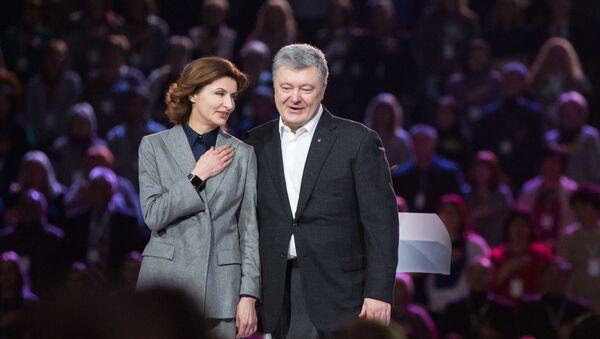 Президент Украины Петр Порошенко с супругой Мариной - Sputnik Таджикистан