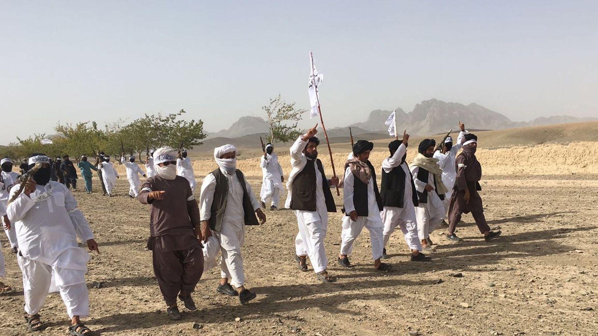 Члены террористического движения Талибан в Афганистане - Sputnik Таджикистан, 1920, 09.08.2021