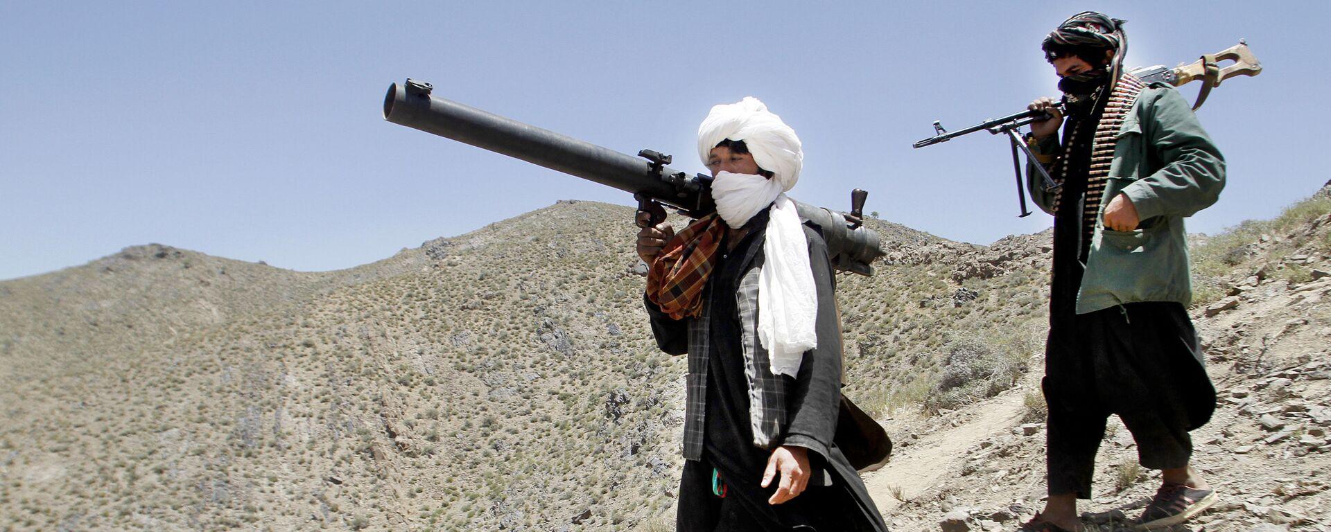 Члены террористического движения Талибан в Афганистане - Sputnik Таджикистан, 1920, 15.07.2021