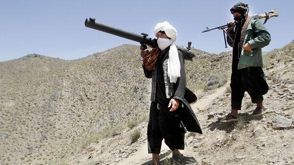 Члены террористического движения Талибан в Афганистане - Sputnik Тоҷикистон