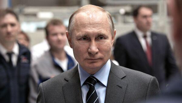 Президент РФ В. Путин посетил НПО Энергомаш - Sputnik Таджикистан