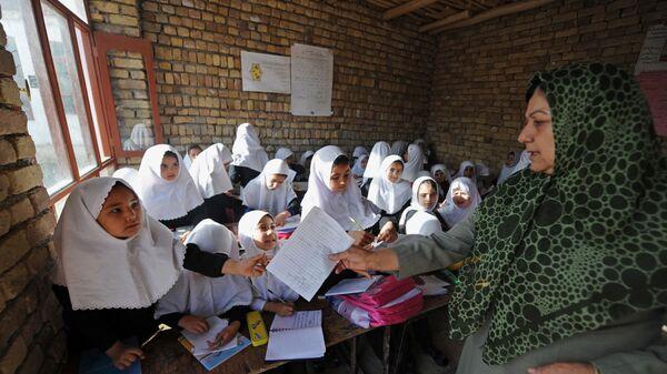 Школа для девочек в Афганистане - Sputnik Тоҷикистон