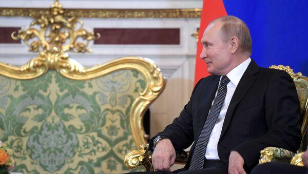 Президент РФ Владимир Путин встретился с президентом Таджикистана Э. Рахмон - Sputnik Тоҷикистон