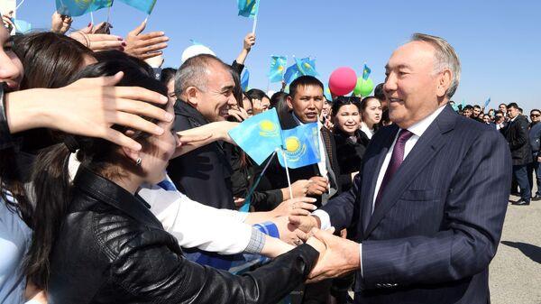 Первый президент Казахстана – Елбасы Нурсултан Назарбаев прибыл в Алматы - Sputnik Тоҷикистон