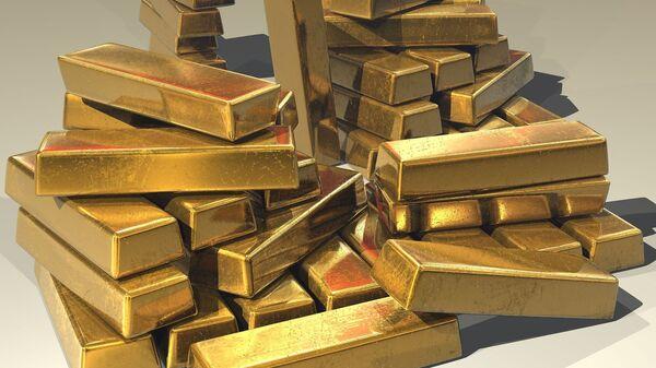 Слитки золото, архивное фото - Sputnik Тоҷикистон