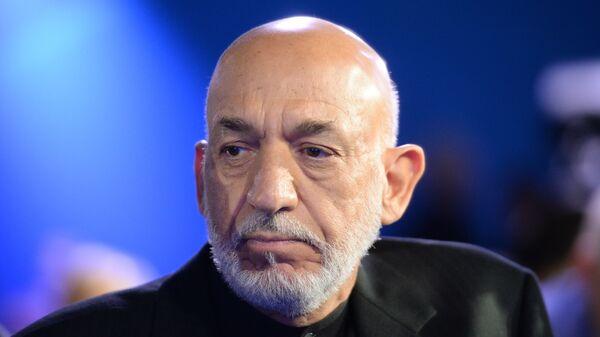 Экс-президент Афганистана Хамид Карзай - Sputnik Тоҷикистон