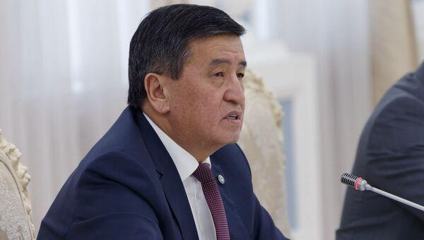 Президент Кыргызстана Сооронбай Жээнбеков - Sputnik Таджикистан