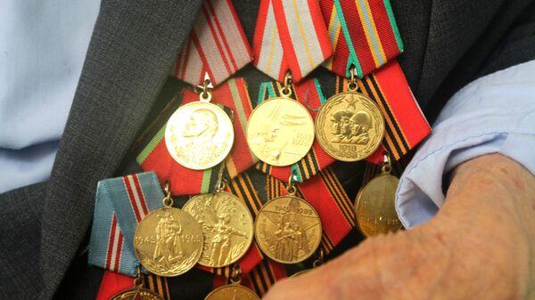 Медали ветерана ВОВ - Sputnik Тоҷикистон
