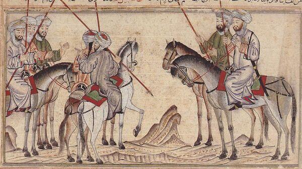 Изображение арабской конницы - Sputnik Таджикистан