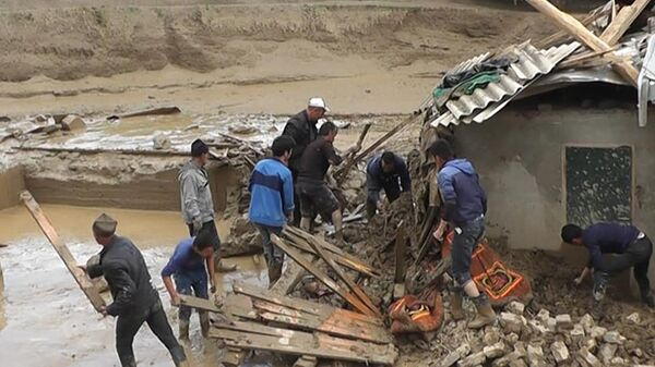 Последствия разрушений после селевого потока в Пенджакенте - Sputnik Таджикистан
