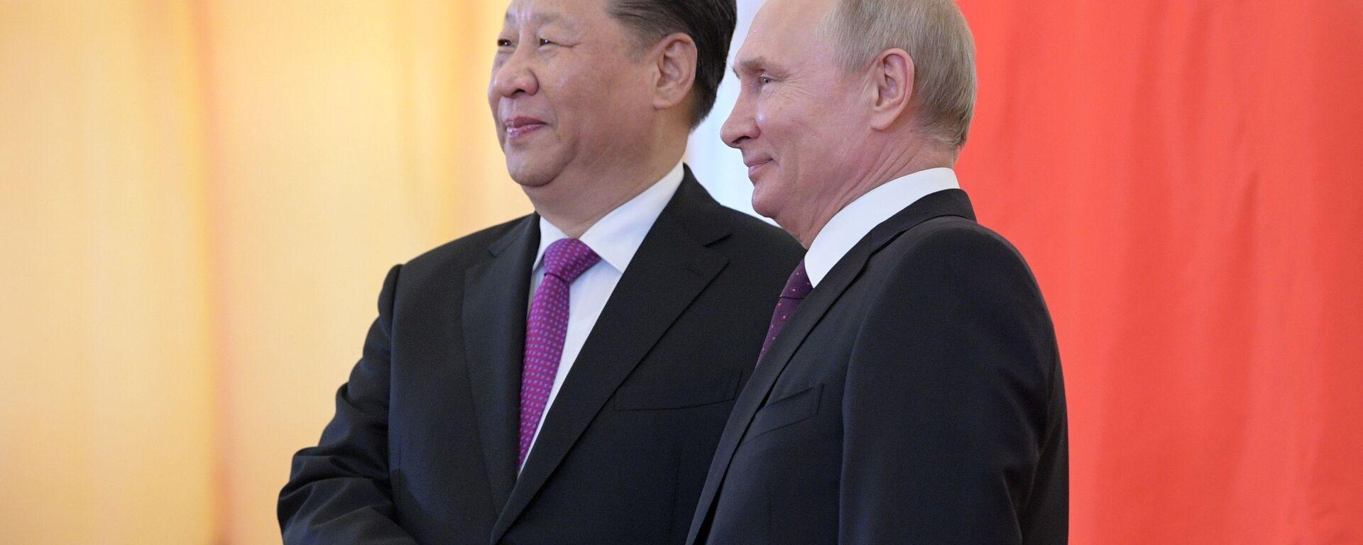 Мероприятия с участием президента РФ В. Путина в рамках государственного визита в РФ председателя КНР Си Цзиньпина - Sputnik Таджикистан, 1920, 23.06.2021