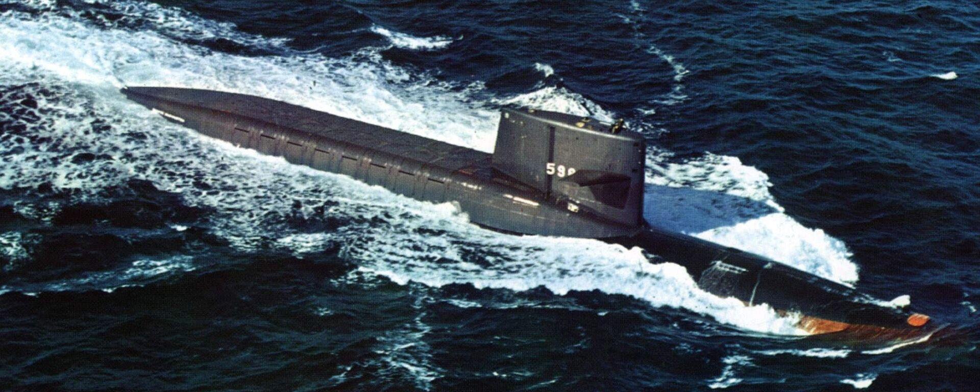 Первая американская подводная лодка с баллистическими ракетами на борту Джордж Вашингтон - Sputnik Тоҷикистон, 1920, 28.08.2020