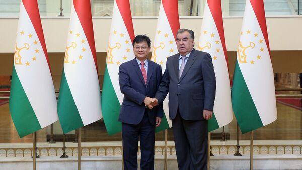 Рахмон принял вице-президента Азиатского банка развития Шиксина Чена - Sputnik Таджикистан